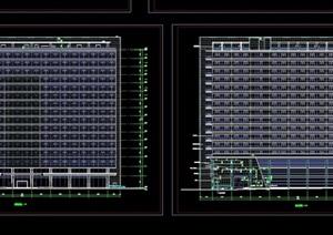 现代高层办公税务大楼设计cad施工图