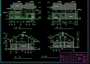 中式风格山庄别墅建筑设计cad施工图纸