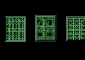 多种不同的花窗节点素材cad方案
