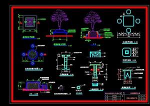 树池桌凳详细节点设计cad施工图