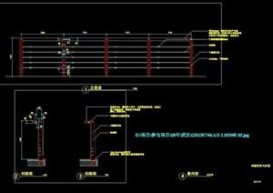 河道栏杆详细设计cad施工大样图