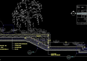 厂房入口台阶设计cad剖面图天正打开