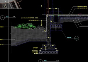 园林景观详细的种植池设计cad施工图