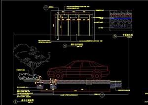 停车位完整详细设计cad施工详图