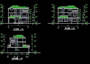 欧式风格详细的多层别墅设计cad方案