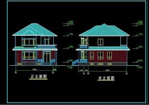 欧式风格多层详细的完整住宅别墅设计cad方案