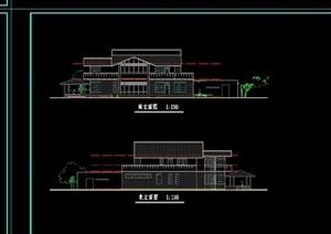 欧式风格居住多层别墅设计cad方案