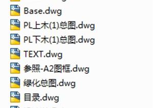 02绿城杭州莲园植物CAD施工图