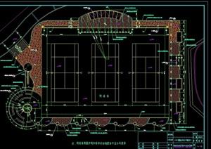 网球场设计cad平面施工图