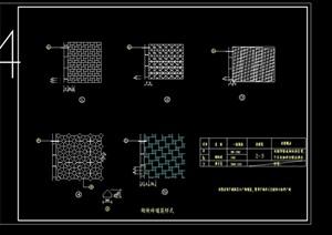 多种不同的地面铺装设计cad施工图集