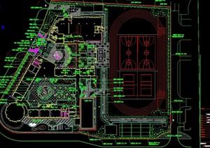 某详细的完整小学规划设计cad总平面