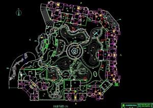 某详细的完整住宅小区规划cad平面图