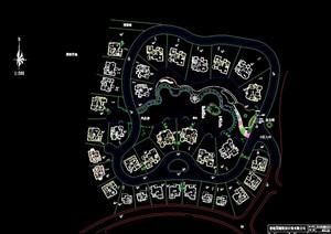 某住宅别墅小区绿化cad方案图