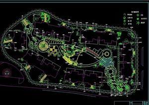 某住宅详细的完整小区绿化cad方案图