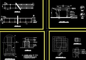长形花架素材设计cad详图