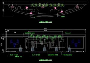 特色水景墙详细完整设计cad施工图