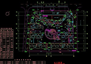 某住宅小区规划设计cad总平面图