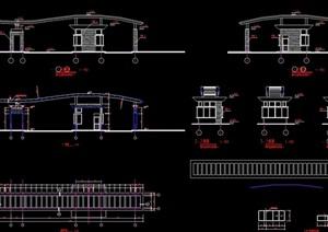 大门传达室素材设计cad方案