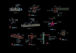 某详细的绿地铺装节点设计cad施工图