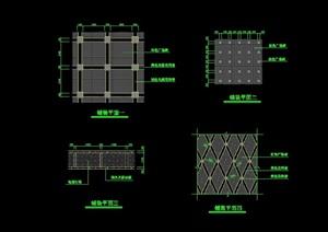 4种多层详细的铺装设计cad施工图