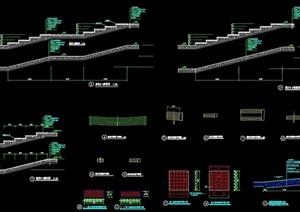 独特整体详细的完整铺装设计cad施工大样图