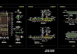 园林景观详细独特大门设计cad施工图