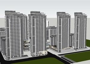 山东济南鲁能张马片区规划方案建筑与景观SU(草图大师)模型