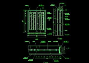 60个木门窗详细完整设计cad施工图