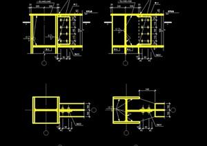 88個鋼梁節點構造cad詳圖