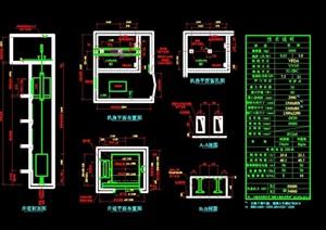 88个客货电梯·自动扶梯设计cad施工图