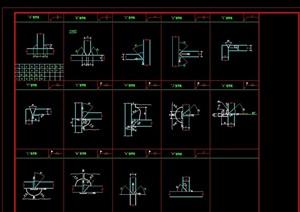 121個鋼框架節點構造CAD詳圖