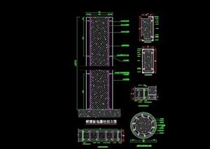80个铝板幕墙详细设计cad施工图