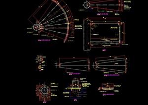15个详细的弧形楼梯设计cad施工图
