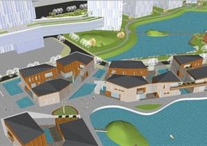 盐城高新区智能终端产业园建筑与景观方案SU(草图大师)模型