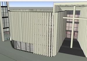 北京海淀基督教堂建筑设计方案SU(草图大师)模型