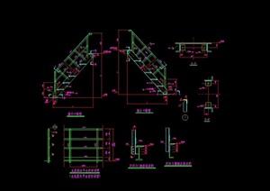 23个独特详细的钢梯设计cad结构图