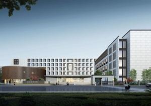 杭州北部软件园新中式祥符中学建筑方案SU(草图大师)模型