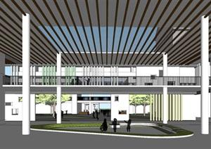 东台第一小学开发区分校建筑设计方案SU(草图大师)模型