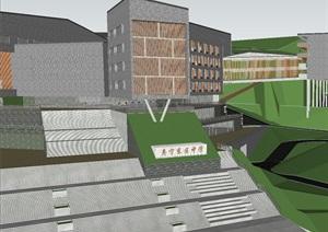 福建寿宁东区中学(山地)项目建筑规划方案SU(草图大师)模型