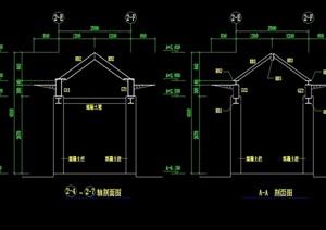 钢廊架完整设计cad施工图