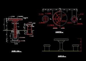 凳与椅素材设计cad施工图