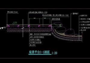 大木平台设计cad剖面图