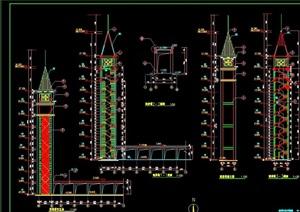观景塔详细完整设计cad施工图