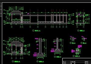 花架详细完整设计cad施工图