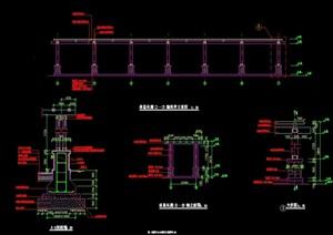 花架廊独特详细设计cad施工图