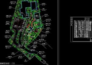 詳細的庭院植物布置及放線圖cad方案