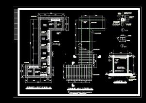 详细的园林景观廊架素材设计cad施工图