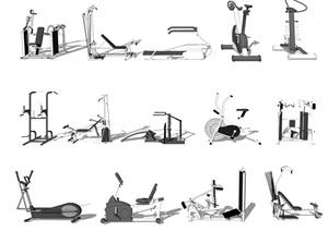 现代运动器材健身器材SU(草图大师)模型