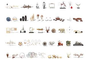 新中式装饰品摆件瓶子SU(草图大师)模型