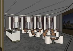合肥西子曼城售楼处室内装潢设计方案SU(草图大师)模型